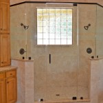 Frameless Shower with Header 2
