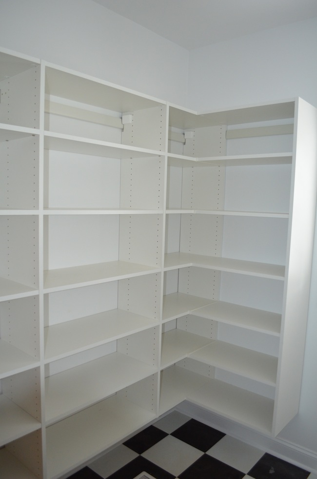 Shelving systems for pantry for Best pantry shelving system